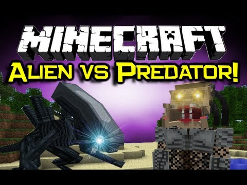 Minecraft - ALIEN VS PREDATOR MOD Spotlight! - Get Yo Sci Fi On! (Minecraft Mod Showcase) alienz vs machine смотреть онлайн
